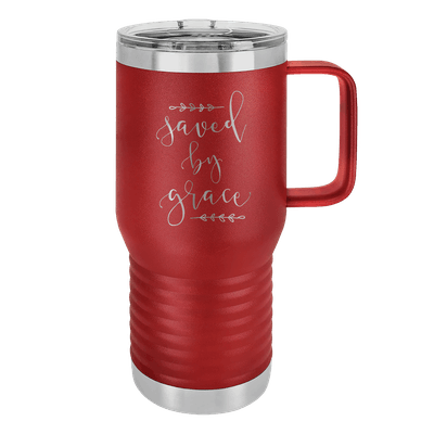 Saved By Grace 20oz Insulated Travel Tumbler