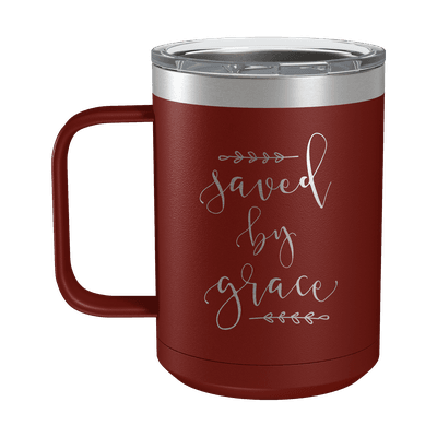 Saved By Grace 15oz Insulated Camp Mug