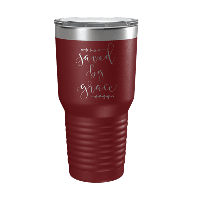 Saved By Grace 30oz Insulated Tumbler