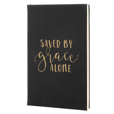 Saved By Grace Alone Leatherette Hardcover Journal