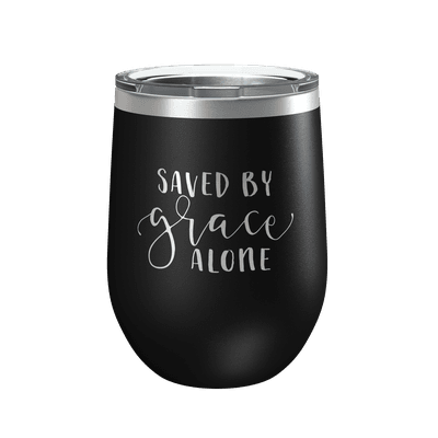 Saved By Grace Alone 12oz Insulated Tumbler