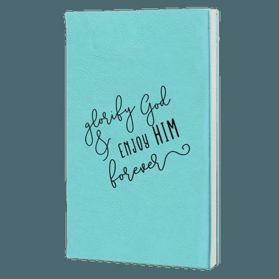 Glorify God And Enjoy Him Script Leatherette Hardcover Journal
