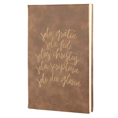 The Five Solas Leatherette Hardcover Journal