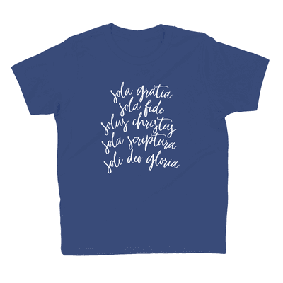 The Five Solas Youth Tee