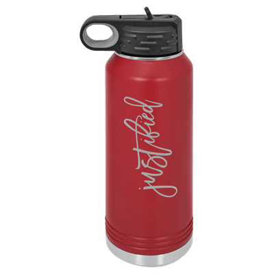 Justified Script 32oz Insulated Water Bottle