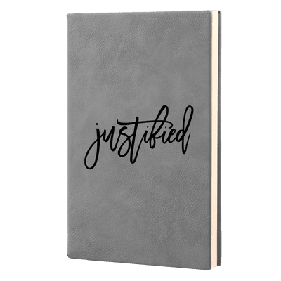 Justified Script Leatherette Hardcover Journal