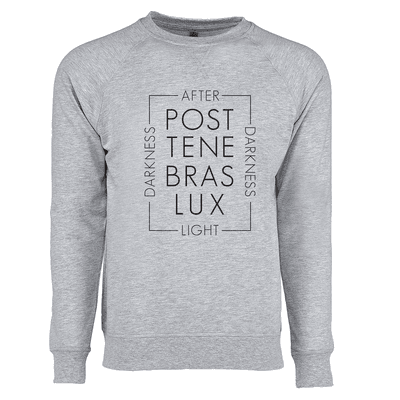 Post Tenabras Lux Script Ladies French Terry Crew