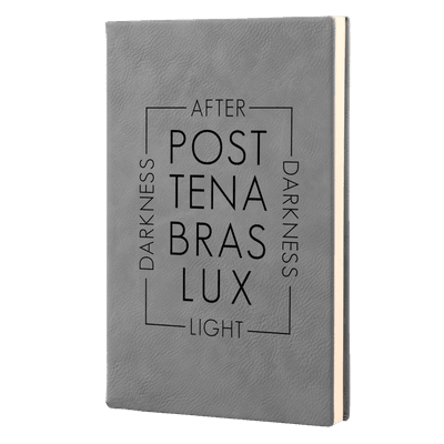 Post Tenabras Lux Script Leatherette Hardcover Journal