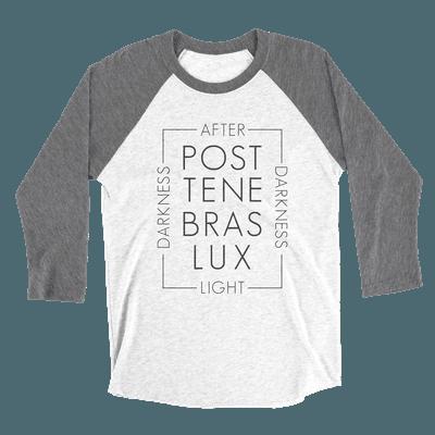 Post Tenabras Lux Unisex Raglan Tee