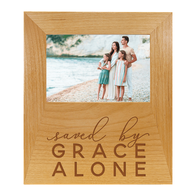 Saved By Grace Alone Lettered Frame
