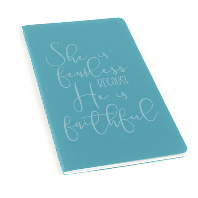 She Is Fearless Laser Etched Moleskine Journal