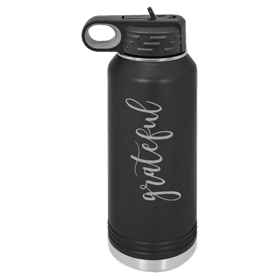 Grateful Script 32oz Insulated Water Bottle