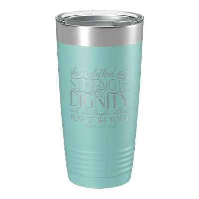 She Is Clothed (Lettered) 20oz Insulated Tumbler