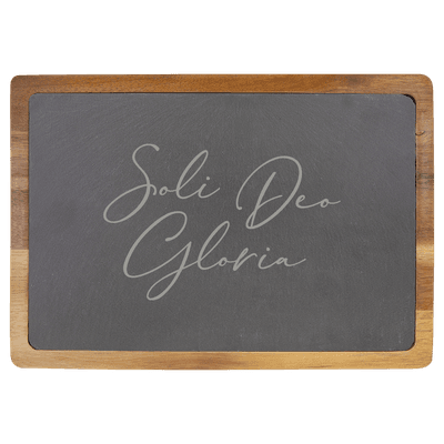 Soli Deo Gloria (Lettered) Slate Cutting Board