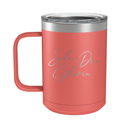 Soli Deo Gloria (Lettered) 15oz Insulated Camp Mug