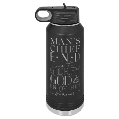Mans Chief End 32oz Insulated Water Bottle