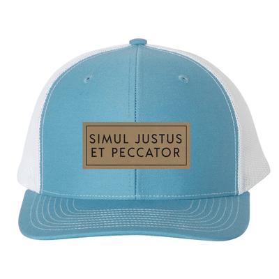 Simul Justus Et Peccator (Patch) Trucker Hat
