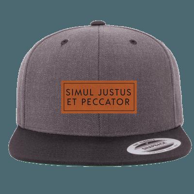 Simul Justus Et Peccator Patch Snapback Hat