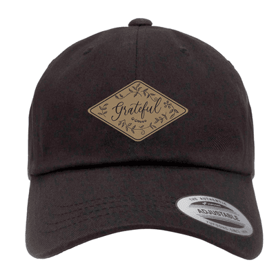 Grateful Floral Patch Dad Hat