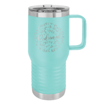 Redeemed Floral 20oz Insulated Travel Tumbler