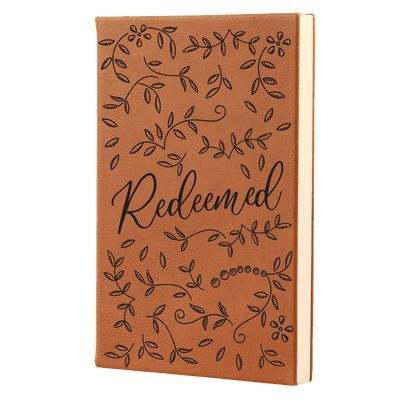Redeemed Floral Leatherette Hardcover Journal