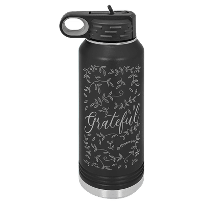 Grateful Floral 32oz Insulated Water Bottle