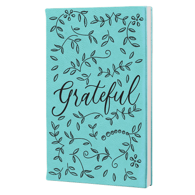 Grateful Floral Leatherette Hardcover Journal