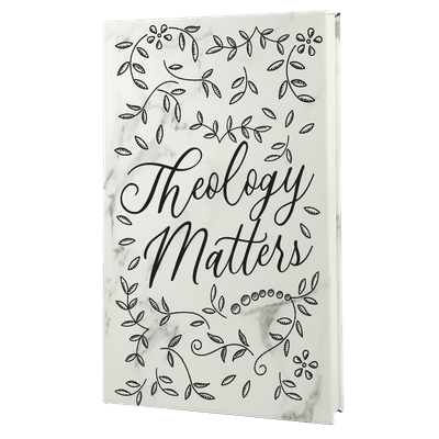 Theology Matter Floral Leatherette Hardcover Journal