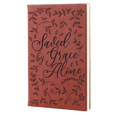 Saved By Grace Alone Floral Leatherette Hardcover Journal