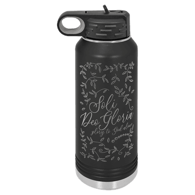 Soli Deo Gloria Floral 32oz Insulated Water Bottle