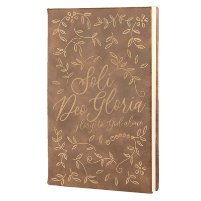 Soli Deo Gloria Floral Leatherette Hardcover Journal