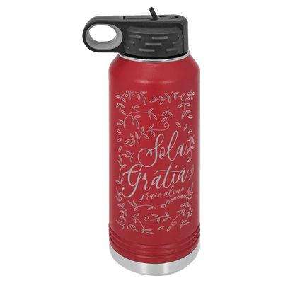 Sola Gratia Floral 32oz Insulated Water Bottle