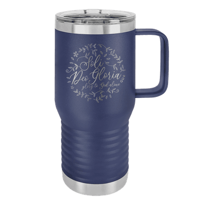 Soli Deo Gloria Floral Round 20oz Insulated Travel Tumbler