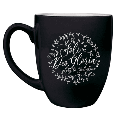 Soli Deo Gloria Floral Round Bistro Mug