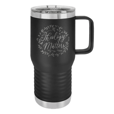 Theology Matters Floral Round 20oz Insulated Travel Tumbler