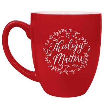 Theology Matters Floral Round Bistro Mug