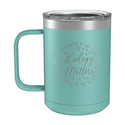 Theology Matters Floral Round 15oz Insulated Camp Mug