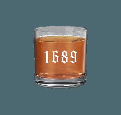 1689 Logo 11 oz Rocks Glass