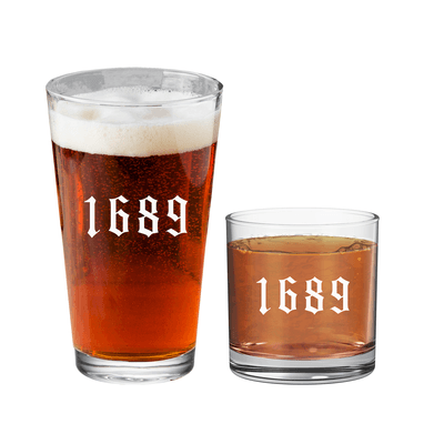 1689 Pint Glass And Rock Glass