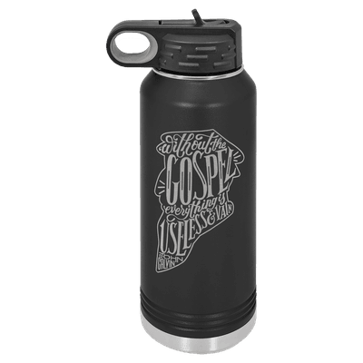 Without the Gospel 32oz Insulated Water Bottle