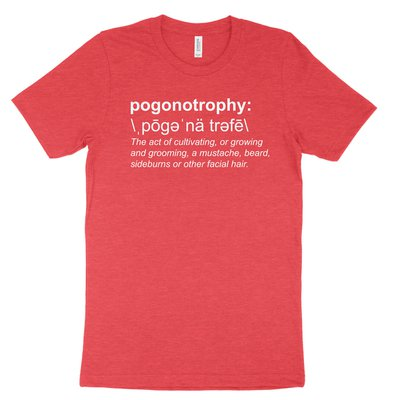 Pogonotrophy (Definition) Tee