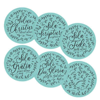 Floral Five Solas Coaster Set of 6