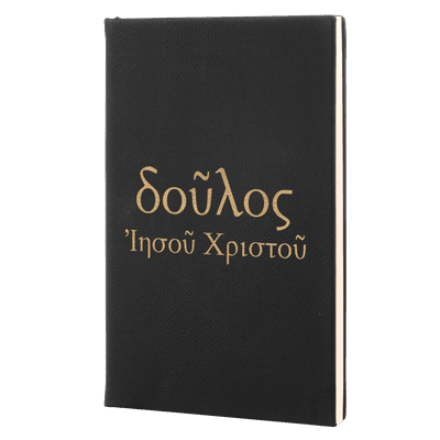 Servant of Christ Jesus (Greek) Leatherette Hardcover Journal
