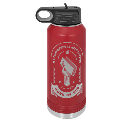 Held Captive to the Word of God 32oz Insulated Water Bottle