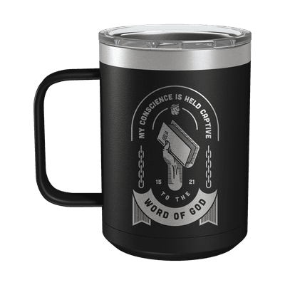 Held Captive to the Word of God 15oz Insulated Camp Mug