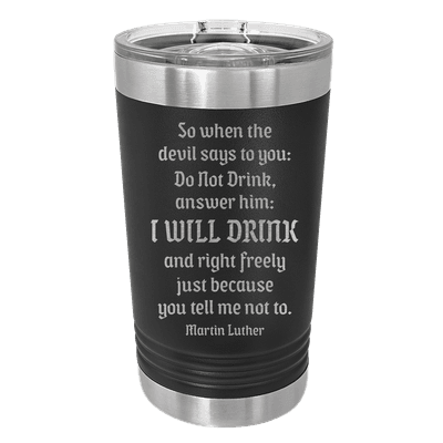 Drink Beer Freely Insulated Pint