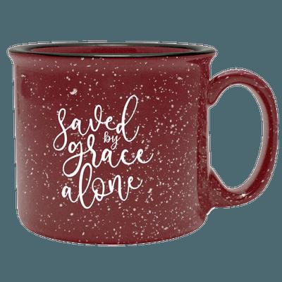 Saved By Grace Alone Camp Mug