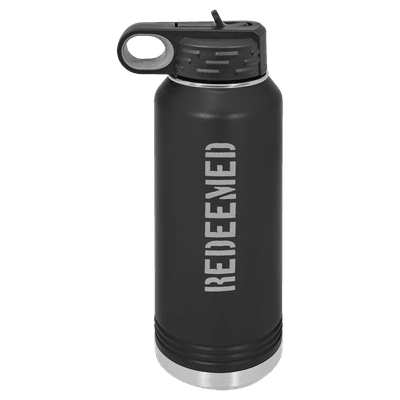 Redeemed (Stencil) 32oz Insulated Water Bottle
