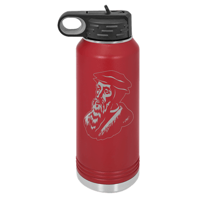 John Calvin 32oz Insulated Water Bottle