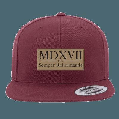 Semper Reformanda - 1517 Roman Numerals Snapback Hat